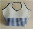 Blue Check Shopping Grocery Tote Bag