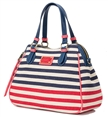 2015 Summer Fashion Lady Gestreepte canvas handtas / Hawaii Beach Bag